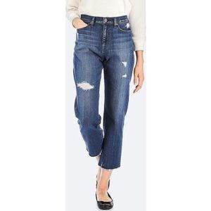 UNIQLO High-rise Distressed Boyfriend-fit Jeans